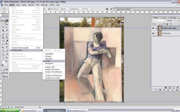 les transformations de torsion dans photoshop