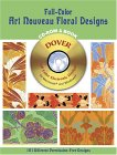 Full-Color Art Nouveau Floral Designs